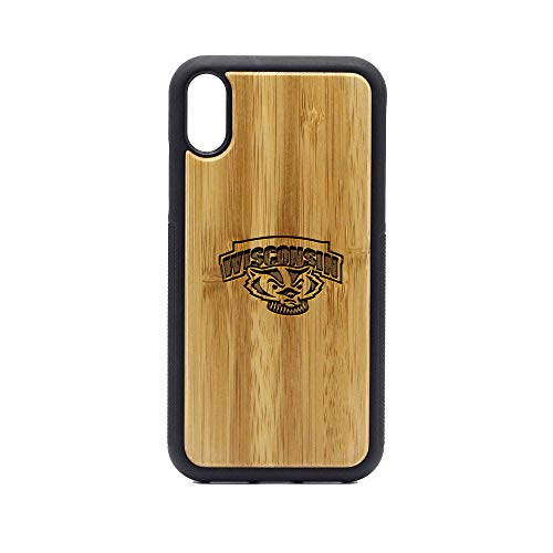 (Wisconsin Badgers - iPhone XR Case - Bamboo Premium Slim & Lightweight Traveler Wooden Protective Phone Case - Unique, Stylish & Eco-Friendly - Designed for iPhone XR)