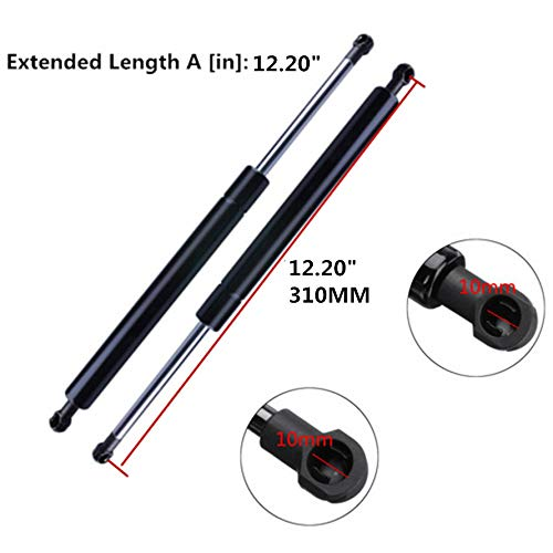 WBOY Qty 2pcs Rear Trunk Gas Lift Supports Spring Struts Damper Prop Arms For 2001-2006 Lexus LS430
