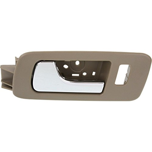 Interior Door Handle compatible with STS 05-11 Front LH Inside Chrome Lever and Beige Housing (Cashmere) Plastic (2009 Cadillac Sts Door Handles)