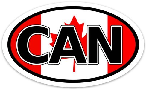 canada oval decal - 8