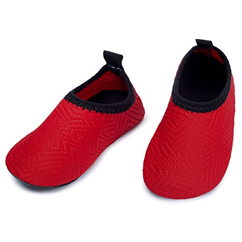 L-RUN-Baby-Kids-Barefoot-Aqua-Socks-Shoes-for-Lawn-Pool-Dance-Red-18-24-MonthEU21-22
