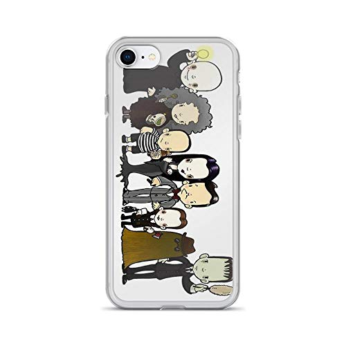 iPhone 7 Case iPhone 8 Case Clear Anti-Scratch They're Creepy and They're kooky, Addams Cover Phone Cases for iPhone 7/iPhone 8, Crystal Clear ()
