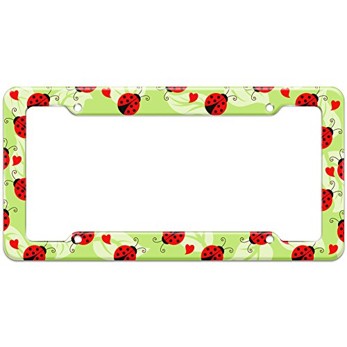 Graphics and More Blank Ladybug Lady Bug Pattern License Plate ()