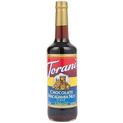 Torani Chocolate Macadamia Nut Syrup (1 Single 750 ml bottle)