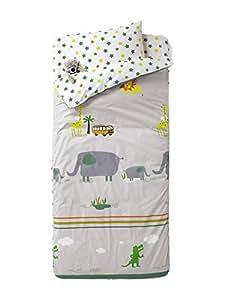 Vertbaudet Listo para Dormir con nórdico Ropa de Cama 4 Piezas Jungla Gris Estampado 90: Amazon.es: Hogar