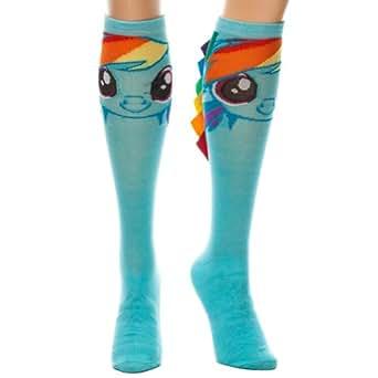 BIOWORLD My Little Pony Rainbow Dash Knee High Socks (Standard), Blue, Sock Size 9-11
