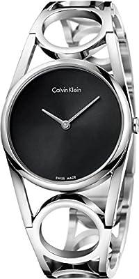 Calvin Klein Black Dial Stainless Steel Ladies Watch K5U2S141