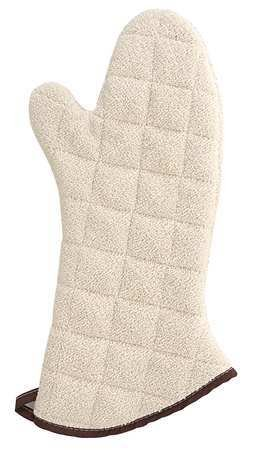 Conventional Oven Mitt, Natural, 17 Inch