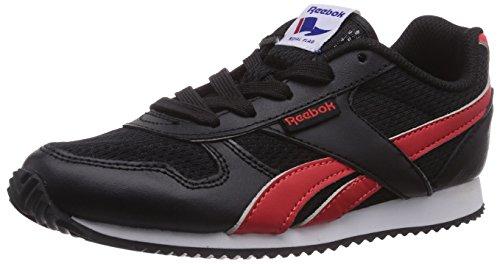 Reebok Royal Classic Jogger, Unisex-Kinder Sneakers Schwarz (Black/Red Rush/White)