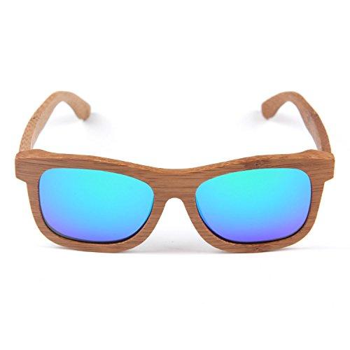 mano de Hecho Hombre Patrón libre Láser Gafas sol Madera a Recubierto con y Mujer Ligero Fotograma Freiesoldaten aire Azul Al Gafas Completo de de tXS1tq