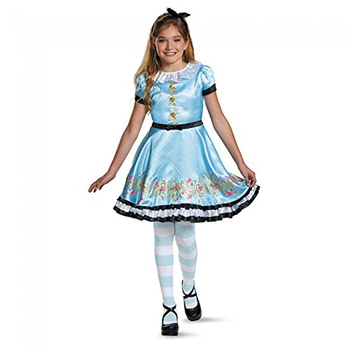 Alice In Wonderland Costume Girls (Ally Deluxe Descendants Wicked World Disney Costume, Medium/7-8)