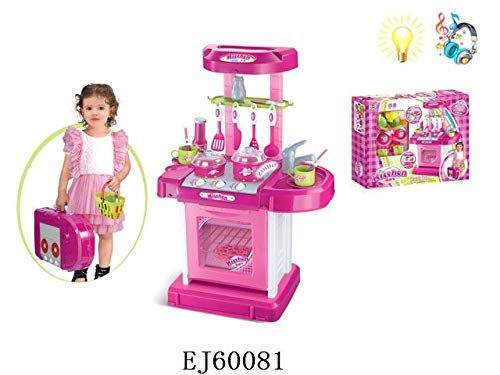 Kitchen Lovely Playset Oven Stove, Sink, Pots & Pans w/ Compact Carry Case