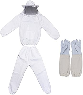 REAMTOP Professional Beekeeper Suit (Jacket, Pants, Gloves)