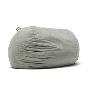 Big Joe 0001658 Fuf Foam Filled Bean Bag Chair, XXL, Fog Lenox