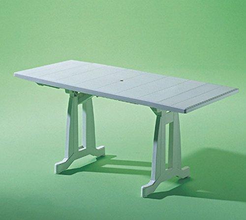 Evolutif - Table de jardin PERFECTA blanc: Amazon.fr: Sports et Loisirs