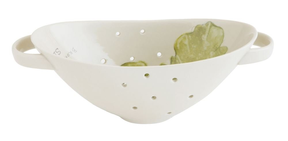 Heart of America Stoneware Colander With Sea Plant - 2 Pieces by Heart of America (Image #1)