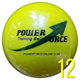 Power Force (12 Softballs) - 3.25'' Dia. 15oz - Weighted Training Softballs for Hitting