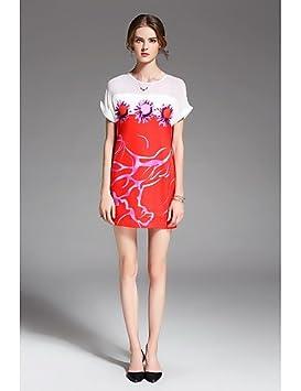 JIALELE Vestido Fiesta Mujer,De Fiesta La Mujer Vestidos Sueltos, Estampados Florales Por Encima