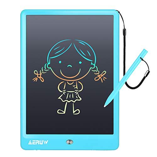 رایانه لوحی نوشتن LCD با آستین ، ERUW 10 اینچ نوارهای گرافیکی الکترونیکی ، تابلوهای رسم eWriter ، دستمال دیجیتالی Doodle Pad با قفل حافظه برای دفتر مدرسه خانگی کودکان ، مشکی