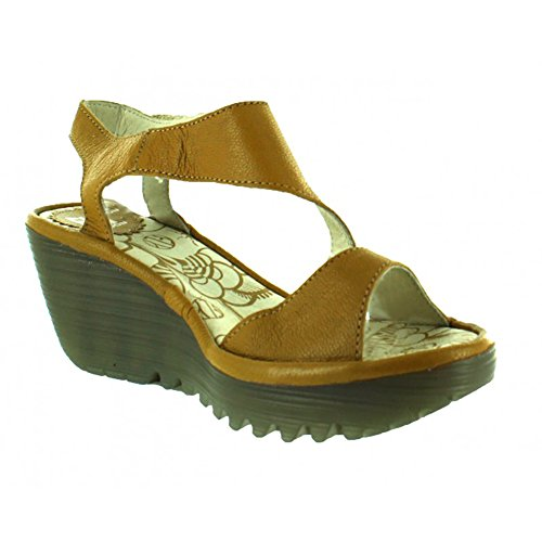FLY London Womens Yanca Dress Sandal, Safron, Size - 38