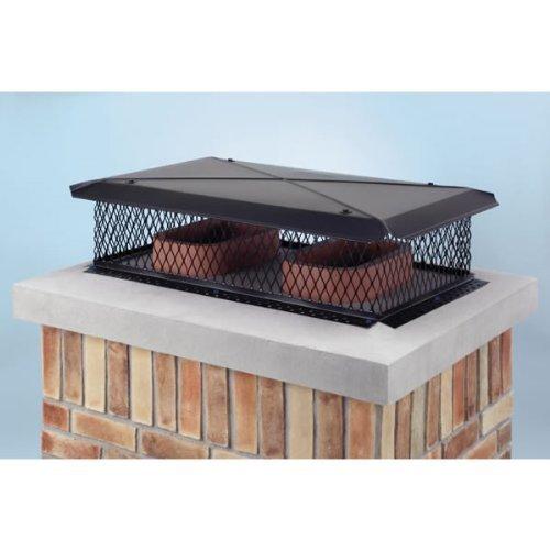 - Gelco 13530 17 Inch x 29 Inch Model A Gelco Black Multi-flue Chimney Cap 18-ga. 8 Inch High 3/4 Inch Mesh 24-ga Lid