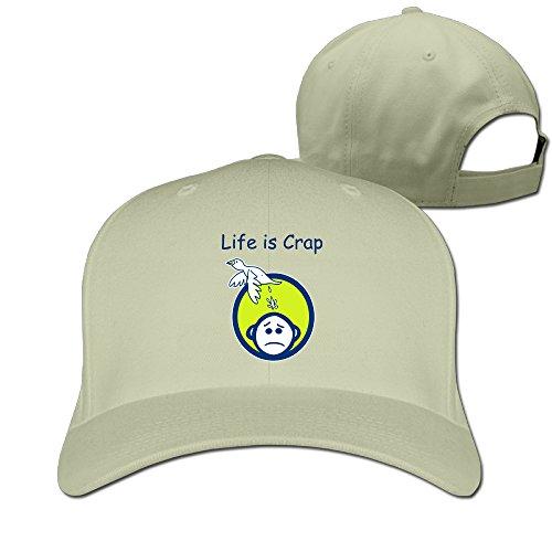 Life Is Crap Flat Strapback Hat Unisex ()