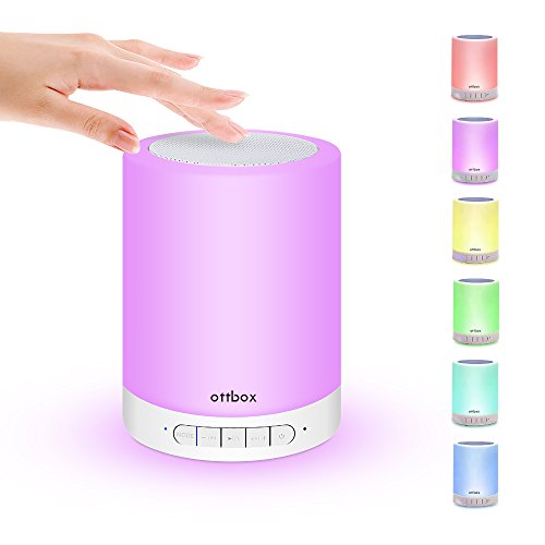 Price comparison product image Portable Smart LED Light + Bluetooth Speaker + MP3 Player,  OTTBOX Smart Touch Portable Wireless LED Light Speaker with Music Player,  Hands-free Bluetooth Speakerphone,  TF Card,  AUX Supported