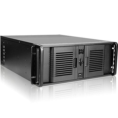 (iStarUSA Rack Mount D-407L-100R3N 4U High Performance Rackmount Chassis with 1000W Redundant Power Supply Brown Box)