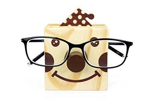 Excelity Wooden Cute Animal Shaped Multi Purpose Use Holder Organizer for Pencil Stationery Eyeglass Phone (Clown)