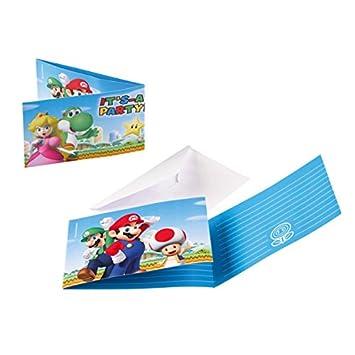 Amscan Super Mario Bros 8 Invitations And Envelopes For Children S