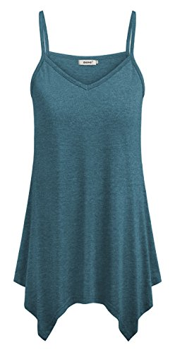 (BEPEI Tanks for Women,Sleeveless Sweetheart Neck Comfort Cami Tops Wide Hem Tunics Drapey Maternity Nursing Blouses Swing Leisure Oversized Shirts Plus Size Aquamarine 2XL)