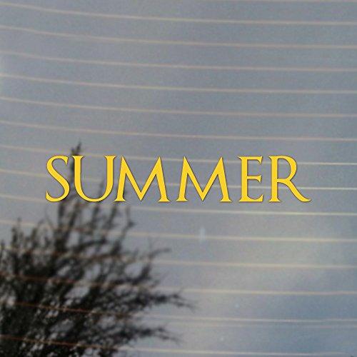 Fantasy Summer Dire Wolf Vinyl Decal (Sunflower Yellow) ()