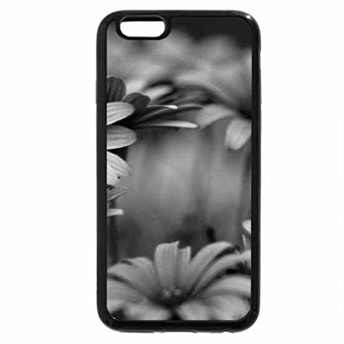 iPhone 6S Plus Case, iPhone 6 Plus Case (Black & White) - Cool flowers