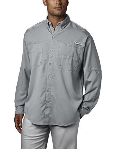 Columbia Men's PFG Tamiami II Long Sleeve Shirt , Cool Grey, Medium