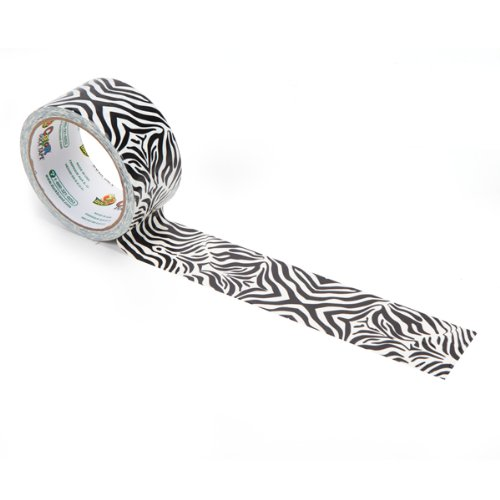 Duck Brand 1398132 Printed Duct Tape, Zig-Zag Zebra, 1.88 Inches x 10 Yards, Case of 6 Rolls by Duck (Image #2)