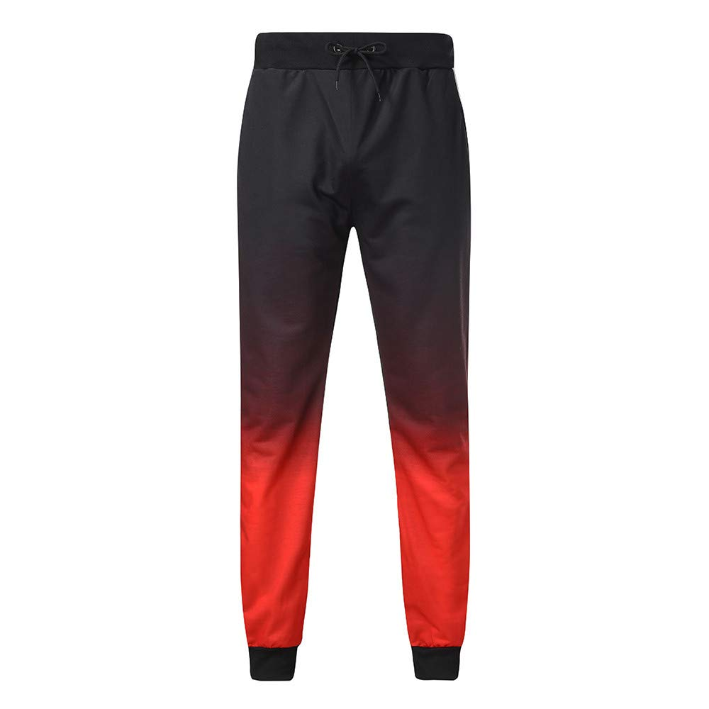 iYBUIA Fashion Sport Jogger Pants for Men Fitness Pant Casual Loose Sweatpants Drawstring Pant