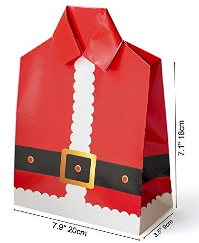 "GOTOME Christmas Gift Bag Origami Paper Bag, Santa, Large, 8.3""x4""x11.8"" (21x10X30cm)"