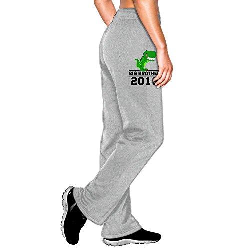 Big Boy Burger Costume (Women's Elastic Waist Pants T-Rex Dinosaur Big Brother Est Pockets Jogger Fleece Pants)