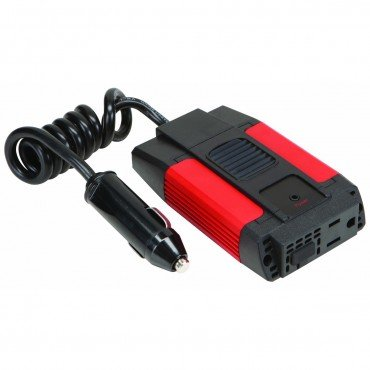 80 Watt Continuous 200 Watt Peak Slim Power Inverter 12 V DC to AC with USB port