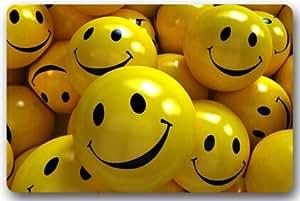Cara sonriente tela no tejida 23,6(L) X 15,7(W) máquina para uso en interior/exterior/ducha/baño Felpudo