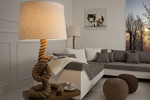 Casa Padrino Designer table lamp Marine Tauseil - rope light stools