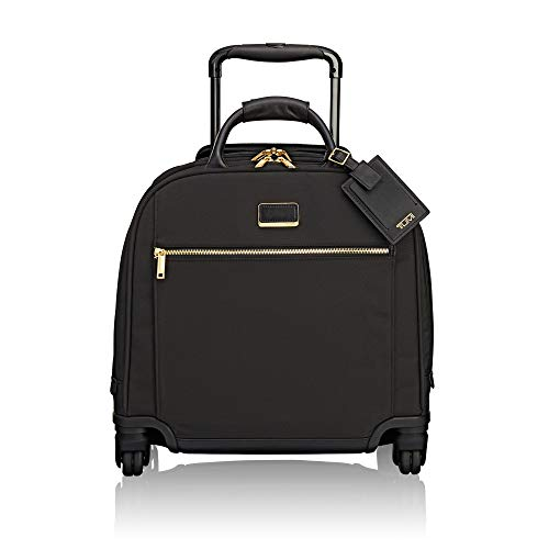 Tote Ballistic Laptop (TUMI - Larkin Simone Compact Wheeled Carry-On Luggage - 16 Inch Rolling Suitcase for Women - Black)