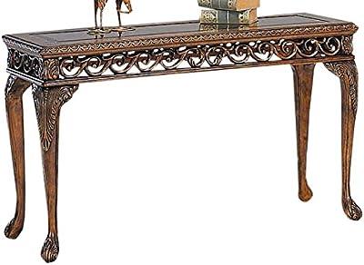 Charming Myco Furniture Sofa Table In Dark Cherry Finish 288515