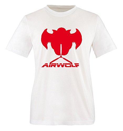 rojo Blanco cortas Air Mangas Blanco wolf Hombre Camiseta TS6qxH6