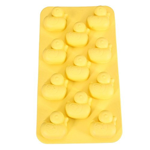 Duck Ducky Rubber Ice Cube Chocolate Soap Tray Mold Soft Plastic Party maker (Ships From USA) by BargainRollBack