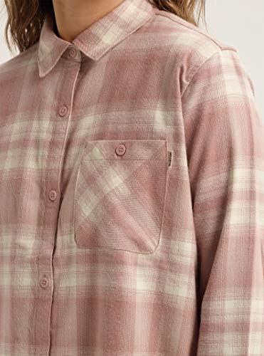 Burton Women's Grace Long Sleeve Woven Shirt, Large, Fawn Lahombre