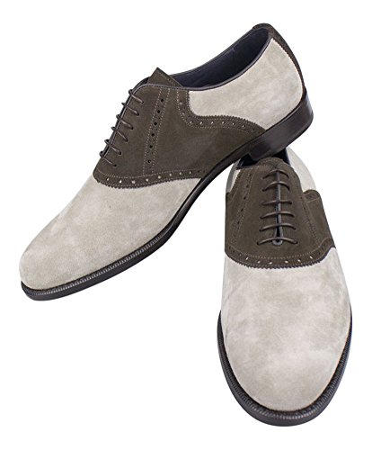 isaia-napoli-brow-gray-suede-saddle-derby-shoes-size-95