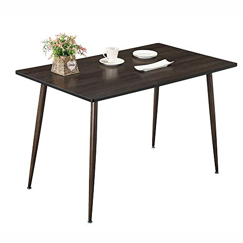 "Dining Table, Kitchen Table Mid Century Dining Room Table, Walnut Modern Dining Table for Home Office, 47.2"" L X 27.6"" D X 29.6"" H"