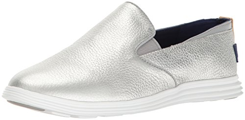 Cole Haan Donna Ella Grand 2gore Slip-on Mocassino Ch Argento / Bianco Ottico