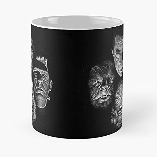 Dracula Frankenstein Wolfman Vintage - Coffee Mugs,handmade Funny 11oz Mug Best Holidays Gifts For Men Women Friends. -